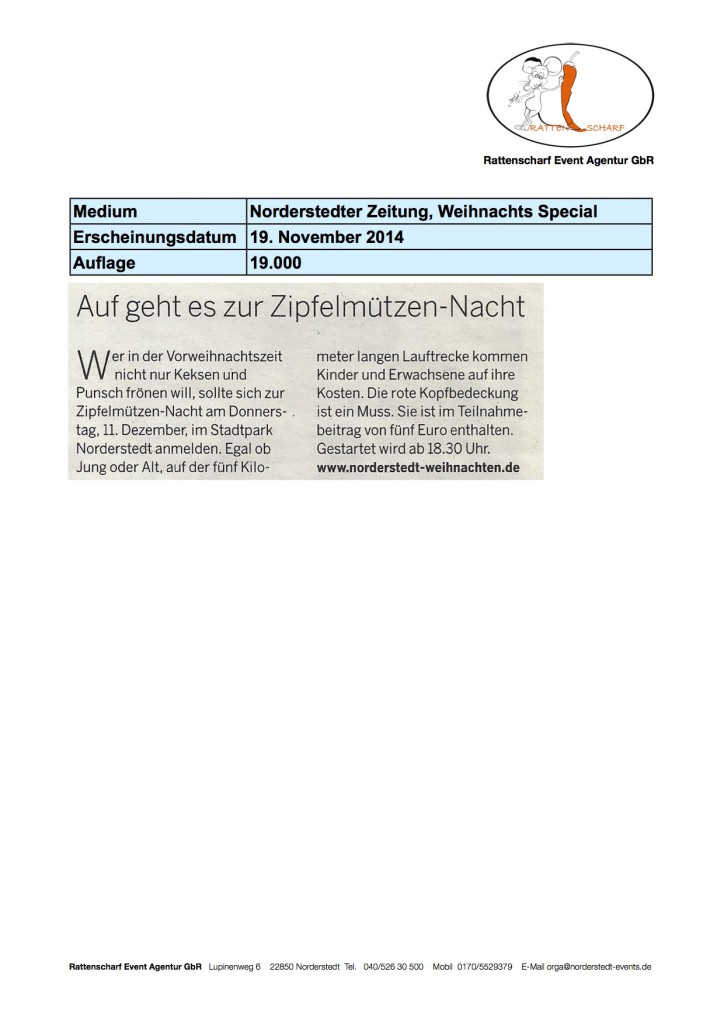 Norderstedter Zeitung 19 November