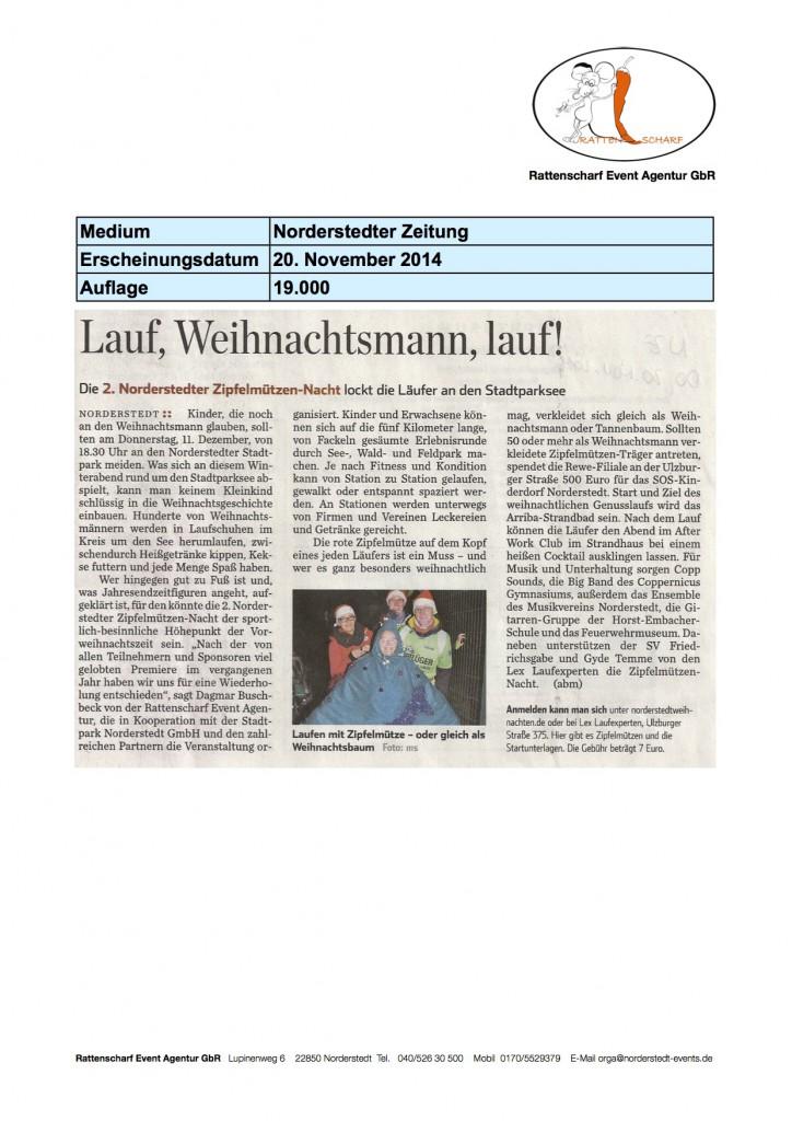 Norderstedter Zeitung 20. November 2014